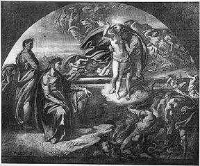 Dante und Vergil in der Unterwelt