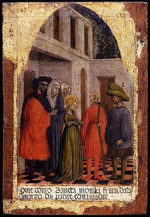 Saint Monica - Image: Antonio vivarini, sposalizio di santa monica