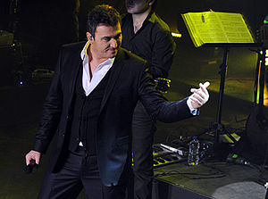 Antonis Remos - Remos performing live at Diogenis Studios in late 2010.