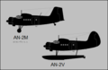 Antonov An-2M and An-2V side-view silhouettes.png