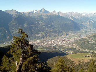 Aosta - Aerial view of Aosta