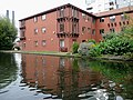 Apartments by the Worcester and Birmingham Canal - geograph.org.uk - 1734018.jpg