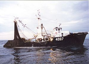 Marc Guylaine - Apollo III, the trawler that received the cry for help.