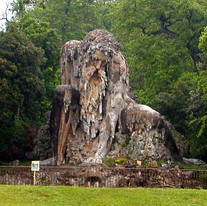 "Villa di Pratolino - The ""Appennine Colossus"" by Giambologna."