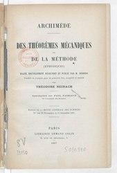 Archimède: Traité de la Méthode
