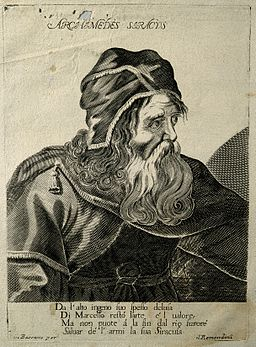 Archimedes Siracus. Line engraving by Remondini. Wellcome V0000191
