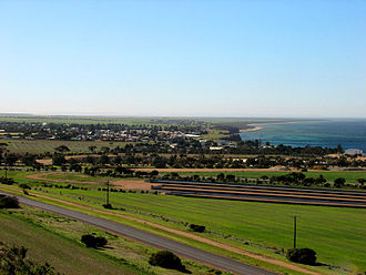 Ardrossan, South Australia - Ardrossan and coastline viewed from a lookout