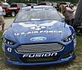 Aric Almirola Sprint Cup Car front view at 2013 Johnsonville Sausage 200 race at Road America.jpg