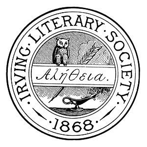 Irving Literary Society (Cornell University) - Image: Arms Irving Literary Society 1883 Cornellian