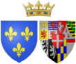 Arms of Marie Adélaïde of Savoy as Duchess of Burgundy.png