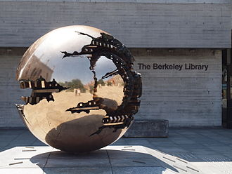 Trinity College Library - Arnaldo Pomodoro's Sfera con Sfera (Sphere Within Sphere) at The Berkeley Library