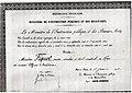 Arrêté du 1er janvier 1910 nommant André FIQUET Officier d'Académie.jpg