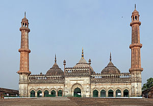 Bara Imambara - The Asfi mosque, located near the Imambara