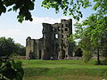 Ashby de la Zouch castle view through the trees.JPG