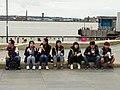 Asian Tourists at Quayside - Albert Dock - Liverpool - England (28033157252).jpg
