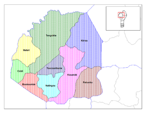 Communes of Benin - Communes of Atakora.