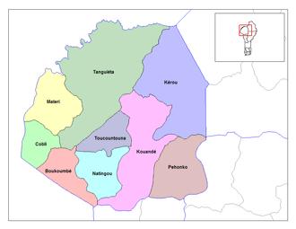 Communes of Benin - Communes of Atakora.