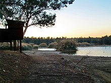 Athalassa Natural Park large lakes late evening Nicosia Republic of Cyprus.jpg