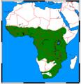 Atilax paludinosus range map.png
