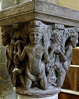 Atlantes capital Abbatiale Mozac 2007 06 30 n2