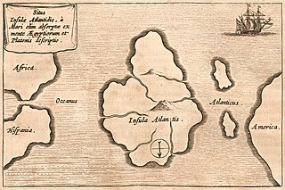 Atlantis Fictional island in Platos works, now a synonym for supposed prehistoric lost civilizations
