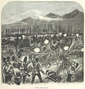 Tauranga Campaign - The attack on the pā (from a British book)