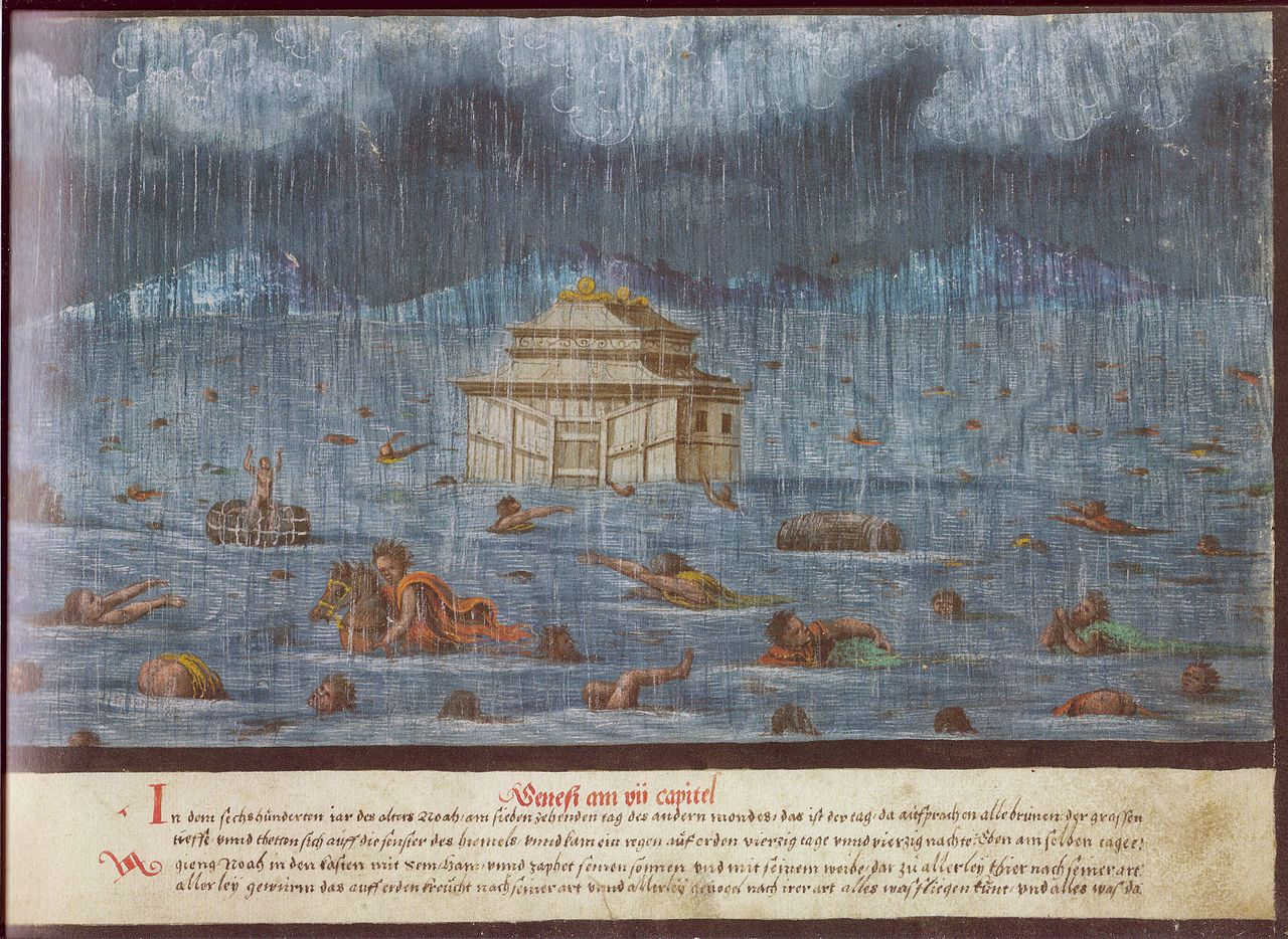 File Augsburger Wunderzeichenbuch Folio 1 Genesis 7 11