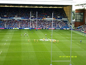 Sri Lanka national rugby sevens team - Australia playing Sri Lanka at the 2014 Commonwealth Games.