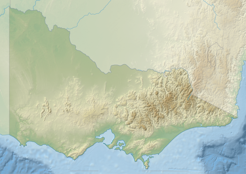 Description australia victoria relief location map blank