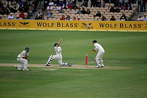 New Zealand cricket team in Australia in 2008–09 - Image: Ausvsnz adelaide 08 redmond 6 p 2