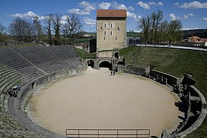 Aventicum - The amphitheatre could hold up to 16,000 people