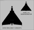 Avro 698 and Avro 710 top-view silhouettes.png