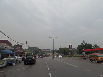 Ayer Hitam - A main road in Ayer Hitam town