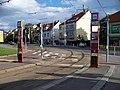 Bílá Hora, tramvajová smyčka, nástupní zastávky (01).jpg
