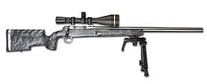 International Confederation of Fullbore Rifle Associations - Another BCM Europearms rifle intended F-Class Open, this one with a bipod instead of a front rest.