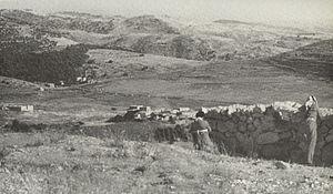 Sha'ar HaGai - Road to Jerusalem at Bab al-Wad seen from Arab Legion positions at Latrun, 1948