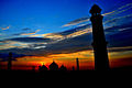 Badshahi Mosque Silhouette at sunset wide angle.jpg