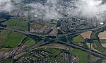 Baillieston Interchange from the air (geograph 4598852).jpg