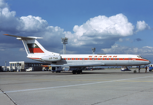 1978 Balkan Bulgarian Tupolev Tu-134 crash - Balkan Bulgarian Airlines Tu-134 (reg. LZ-TUA)