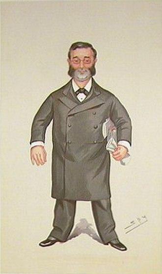 "Walter Foster, 1st Baron Ilkeston - ""The Ilkeston Division"" Foster as caricatured by ""Spy"" (Leslie Ward) in Vanity Fair, October 1894"