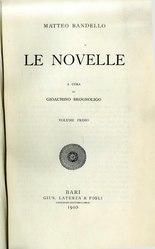 Matteo Bandello: Novelle