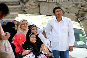 Bangladeshi diaspora - A Bangladeshi family in Saudi Arabia.