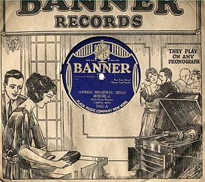 Banner Records - Banner Record Sleeve, 1920s.