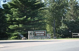 Baraga, Michigan - Image: Baraga State Park Entrance Sign