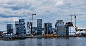 Metropolitan regions of Norway - Oslo skyline