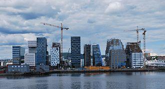 Metropolitan regions of Norway - Oslo skyline