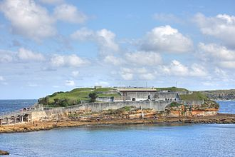 Bare Island (New South Wales) - Image: Bare island fort La Perouse 2