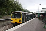 Barnstaple - GWR 143619 leaving for Exmouth.JPG