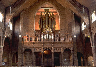Benedictus Buns - The famous organ in the Basilica of Boxmeer where Buns played.