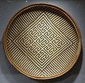 Basket tray with mado fedi (jaguar face) motif, Yekuana, Paragua River, Venezuela, undated - Spurlock Museum, UIUC - DSC05917.jpg